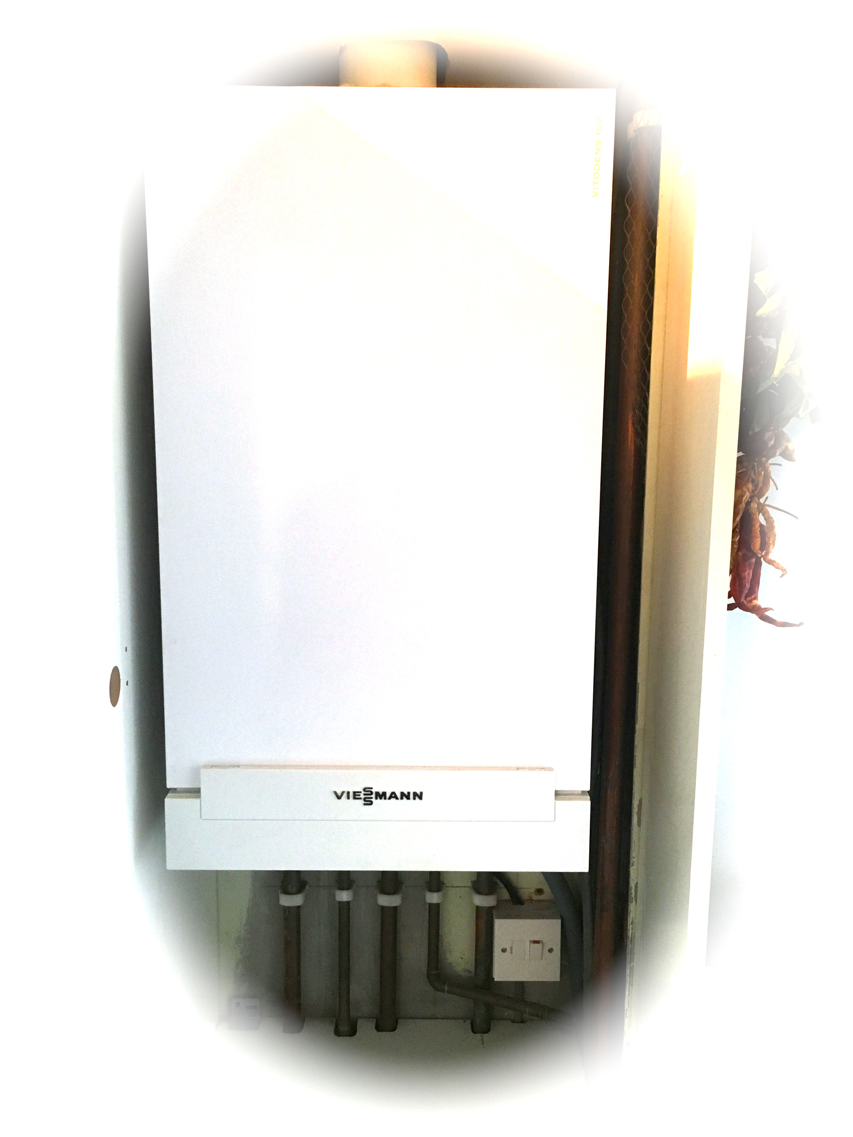 Image of a condensing combi boiler installed in Leeds by us.