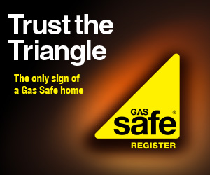 Image of the Gas Safe trust the triangle campaign. Gas Safe registered installer in Leeds