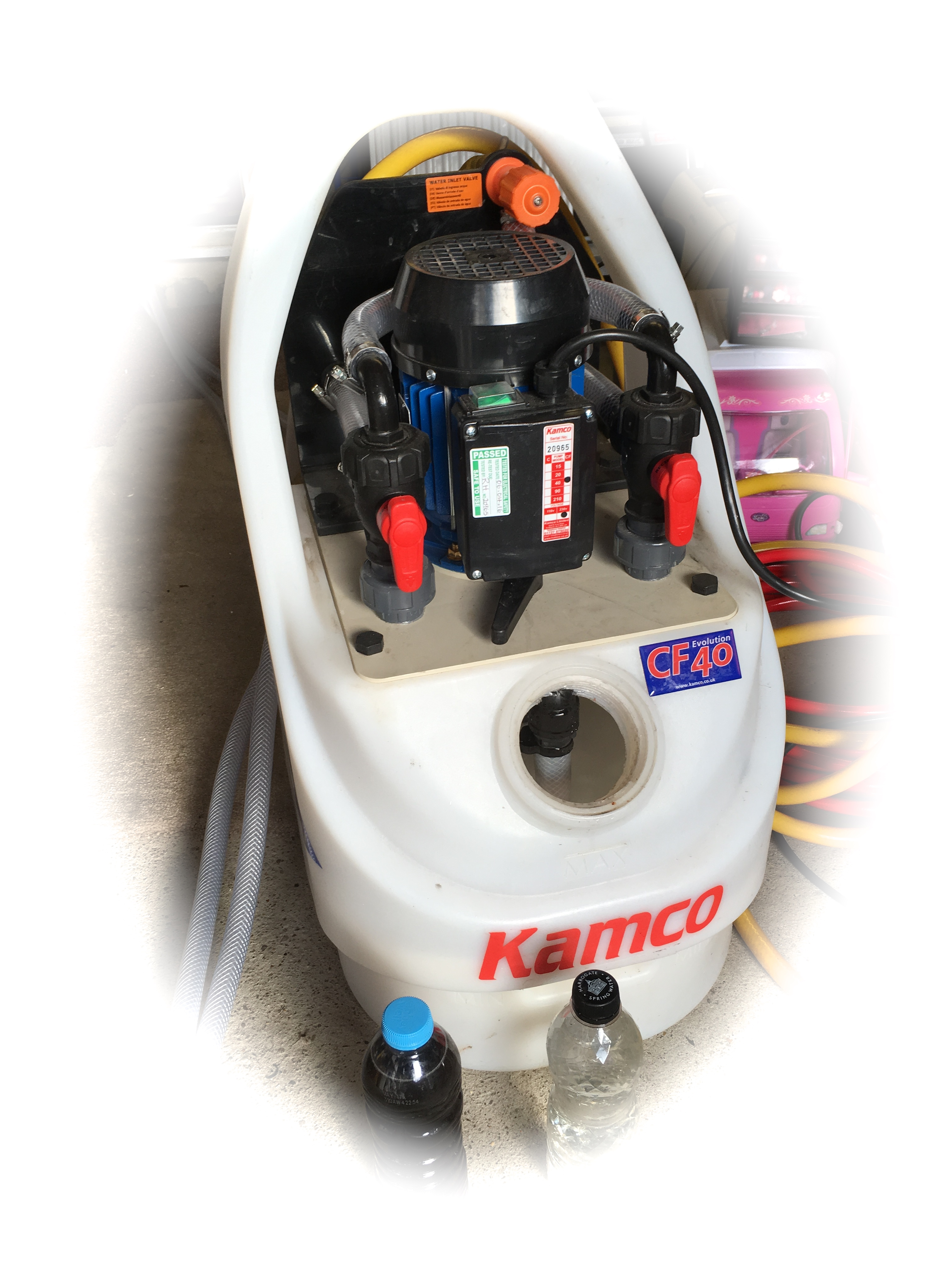 Image of our power flushing machine used to power flush central heating systems before boiler installations in Leeds.