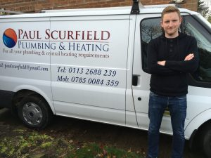 Image of Paul Scurfield, a gas engineer who carries out boiler installations, boiler repairs, heating installations and all types of plumbing and central heating in North Leeds.